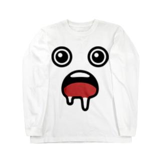 よだれ Long sleeve T-shirts