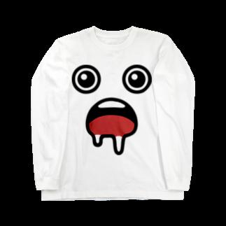 犬田猫三郎のよだれ Long sleeve T-shirts