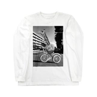 CHARINKO  KIRIN(モノクロver.) Long sleeve T-shirts
