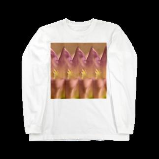 クレヨン君とえんぴつ君のふうりんそう Long sleeve T-shirts