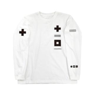 plus minus toichi 03-4 黒とグレイ Long sleeve T-shirts