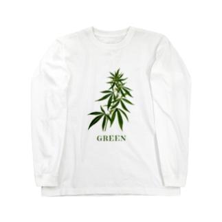 大麻草 Green Tシャツ Long sleeve T-shirts