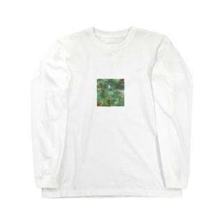 モネの池の様子 Long sleeve T-shirts