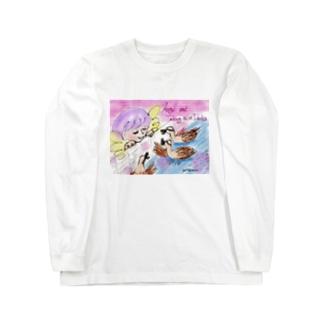 Ang18 エンジェルとおしゃべりな鴨たち Long sleeve T-shirts
