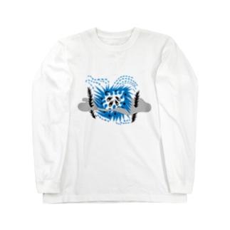 星(blue) Long sleeve T-shirts
