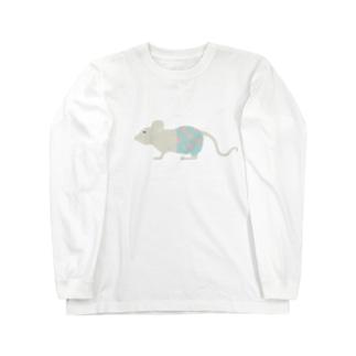 水玉パンツはいてるっチュウの Long sleeve T-shirts