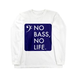 NO BASS, NO LIFE. Long sleeve T-shirts