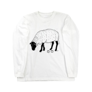 黒ヒツジ -Summer Fashion- 羊 動物イラスト Long sleeve T-shirts