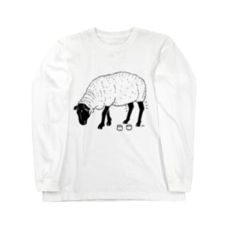 Aliviostaの黒ヒツジ -Summer Fashion- 羊 動物イラスト Long sleeve T-shirts