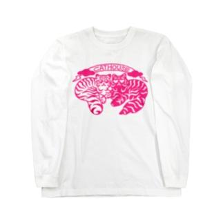 CATHOUSE 桃 Long sleeve T-shirts