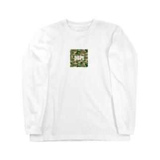 まめけ、とんちき、とんまなデザイン Long sleeve T-shirts