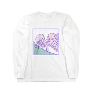 ゆめかわ浮世絵『がしゃどくろ』 Long sleeve T-shirts