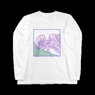 yu_takada_のゆめかわ浮世絵『がしゃどくろ』 Long sleeve T-shirts