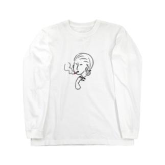 ご婦人 シンプル Long sleeve T-shirts