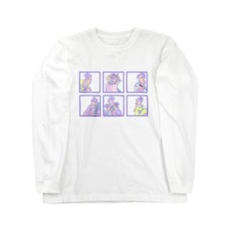 ゆめかわ浮世絵『ごちゃまぜ』 Long sleeve T-shirts