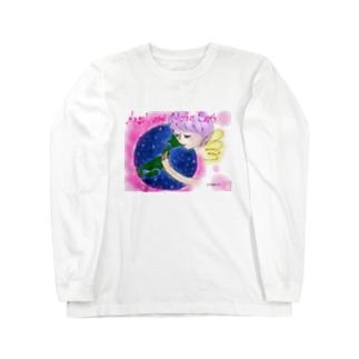 Ang21 エンジェルとマザーアース Long sleeve T-shirts
