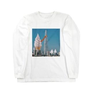 アイスクリーム都市 Long sleeve T-shirts