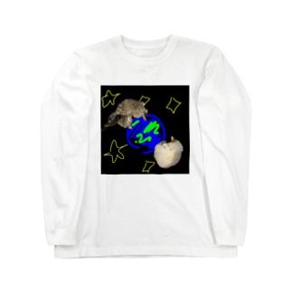 宇宙×猫 Long sleeve T-shirts