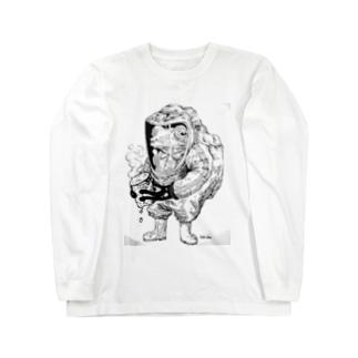 ちょー危険な物を持つカエル Long sleeve T-shirts