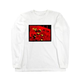 働くカエル達 Long sleeve T-shirts
