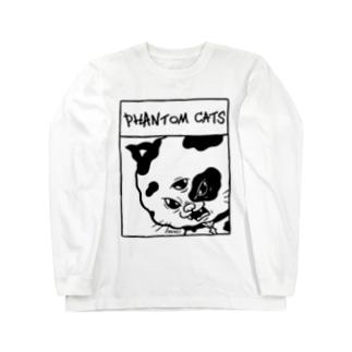 化け猫ドットフィアーフェイス Long sleeve T-shirts
