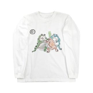 カエルのおすもう Long sleeve T-shirts