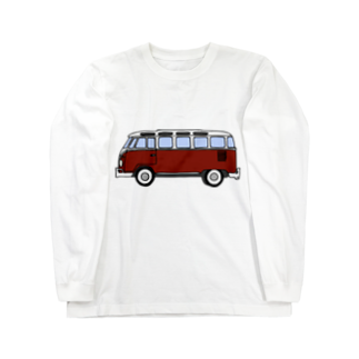 243のワーゲンバス エンジ Long sleeve T-shirts
