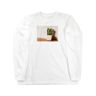 サボテン Long sleeve T-shirts