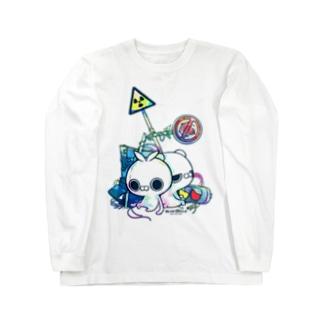 クレイジー闇うさぎ(標識/カラー) Long sleeve T-shirts