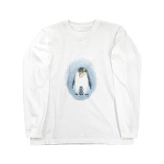 皇帝ペンギンの親子 Long sleeve T-shirts