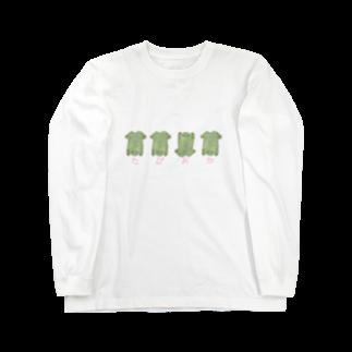 くおのまるめたぴおかがえる Long sleeve T-shirts