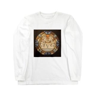 切り絵スワンハート❷ Long sleeve T-shirts