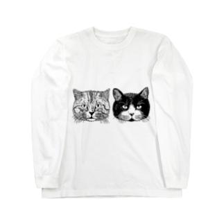トラとハチ Long sleeve T-shirts