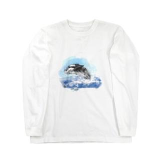 シャチ Long sleeve T-shirts