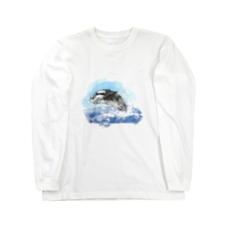 いきものイラスト(シャチ) Long sleeve T-shirts