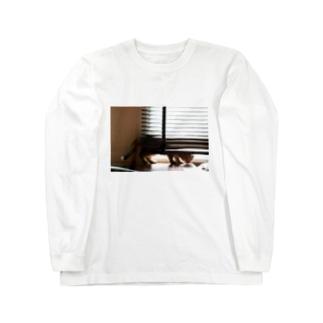 猫。日向。 Long sleeve T-shirts