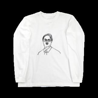 nekonekoskのメスブタ教授 Long sleeve T-shirts