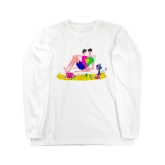 夏より熱い愛 Long sleeve T-shirts