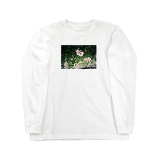 さかさま立葵 Long sleeve T-shirts