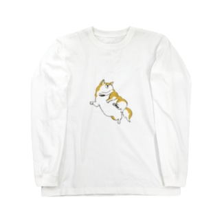 太った柴犬 Long sleeve T-shirts