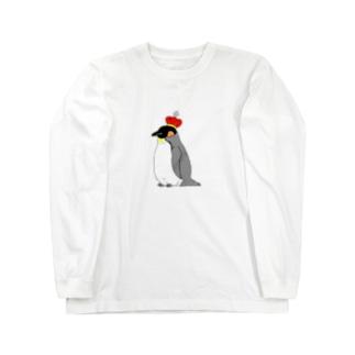 王様ペンギン Long sleeve T-shirts