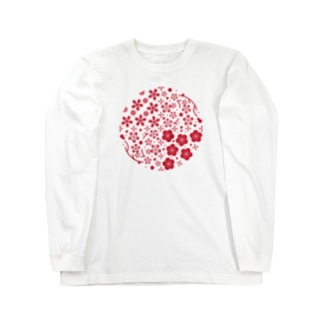 華丸・桜と梅 Long sleeve T-shirts