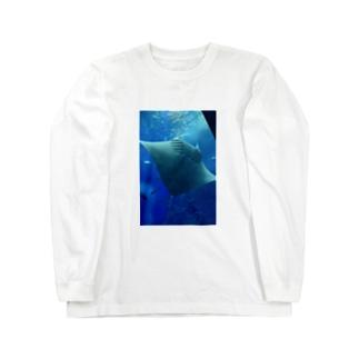 マンタ Long sleeve T-shirts