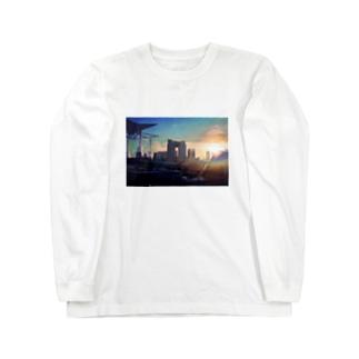 東京夕陽 Long sleeve T-shirts