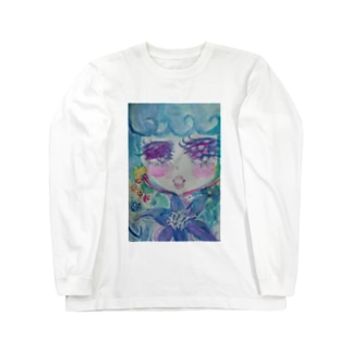 クレマチス Long sleeve T-shirts