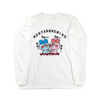 ねんたん&ねみこちゃん Long sleeve T-shirts
