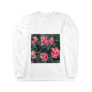 おばあちゃんちのチューリップ Long sleeve T-shirts