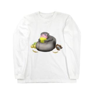 【ブサカワ!】デブサルTシャツ Long sleeve T-shirts