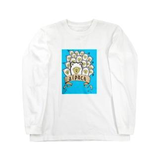 おもしろアルパカTシャツ Long sleeve T-shirts