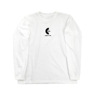 catch me.  ブラックロゴ Long sleeve T-shirts